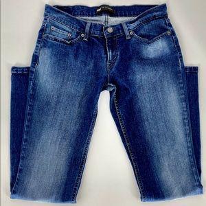 LEVI'S 524-Size 9(JR)-Medium Wash Superlow Jeans